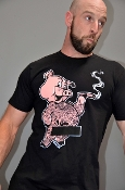 SMOKED HAM (Black) T-Shirt by OXBALLS