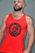 OXBALLS LOGO (Black on Red) Tank by OXBALLS