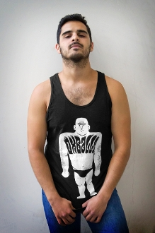OX MAN (White on Black) Tank by OXBALLS