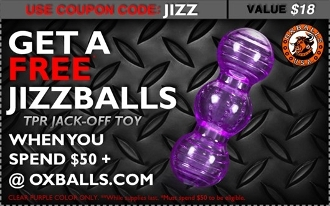 FREE JIZZBALLS JERK OFF TOY with your purchase of $50+