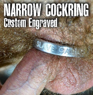NARROW COCKRING…custom metal for your cock from OXBALLS