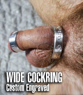 WIDE COCKRING…custom metal for your cock from OXBALLS