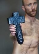 "DAMIEN dildo by OXBALLS…""Pray for Release!"""
