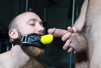 GUARD GAG-PISS Silicone Trough Gag OXBALLS