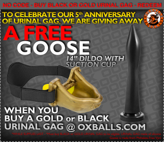 URINAL piss-gag by OXBALLS