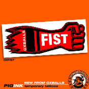 PIGINK 6-pack temporary tats: FIST FUCKER!